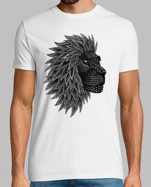 lion crinière tribal