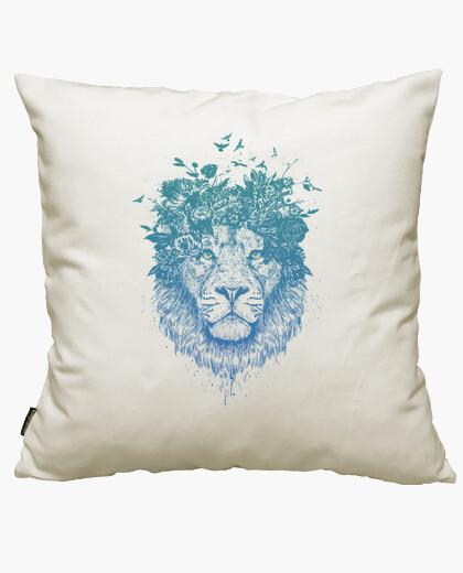 Housse de coussin lion floral