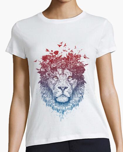 Tee-shirt lion floral iii
