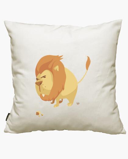 Housse de coussin lion grosse tête