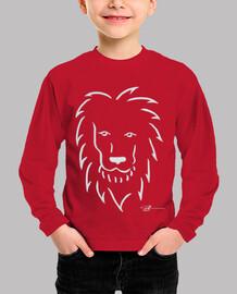lion in white child tshirt