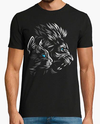 Tee-shirt lion tribal chat