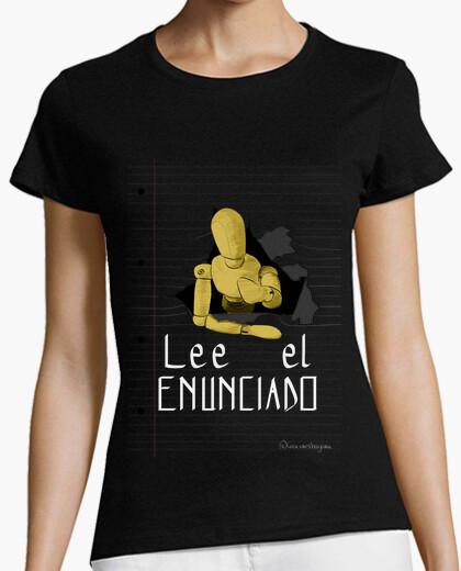 Tee-shirt lire la déclaration 1 pour le t-shirt foncé, femme