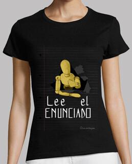 lire la déclaration 1 pour le t-shirt foncé, femme