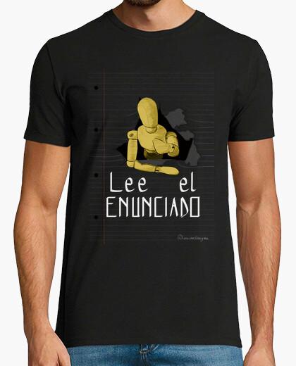 Tee-shirt lire la phrase 1 pour un t-shirt foncé, homme