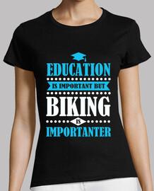 l'istruzione è importante ma è in bicicletta