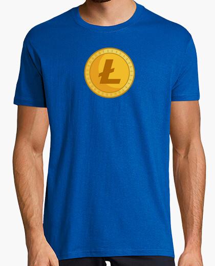 Camiseta Litecoin Flat Design