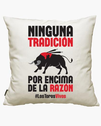 Live bulls cushion cover