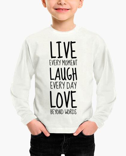 Vêtements enfant Live Laugh Love / Citation / Happy