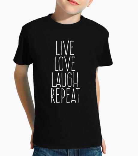 Ropa infantil Live love laugh repeat