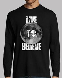 live to believe long sleeve - black