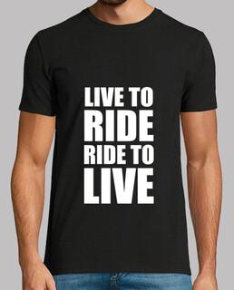 live to ride / Fahrt zu leben / Motorra