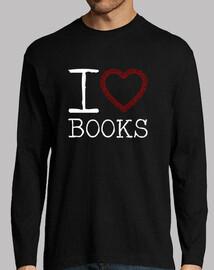 livres t-shirt manches longues homme