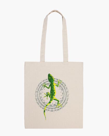 Lizard circle bag