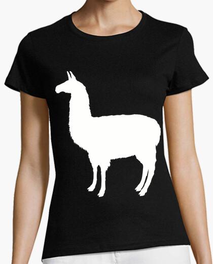 Camiseta Llama Sombra Blanca / Alpaca