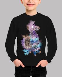 Llama watercolor (2) - Niño