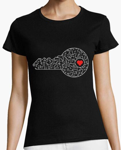 Camiseta llave de tu corazón (plata)