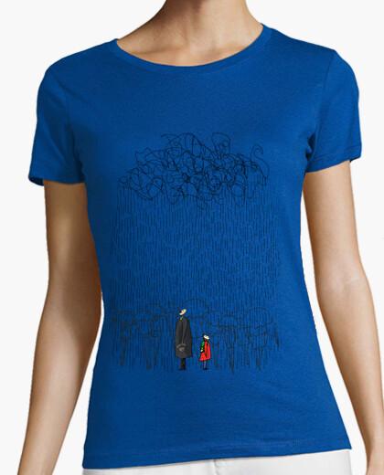 Camiseta Lloviendo pero feliz