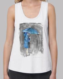 lluvia azul-Mujer, tirantes anchos