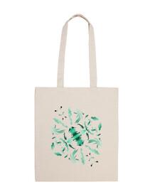 lo scarafaggio borsa in tela cotone 100%
