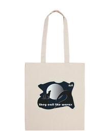 Lobo-Bolsa tela 100% algodón