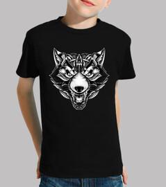 lobo enojado adornado