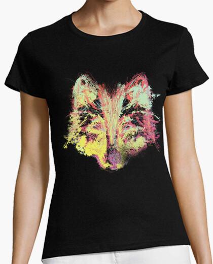 Camiseta Lobo Explosión de Color