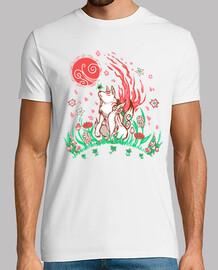 lobo flor brisa - camisa de hombre