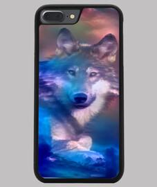Lobo Funda iPhone 7/8 PLUS, negra
