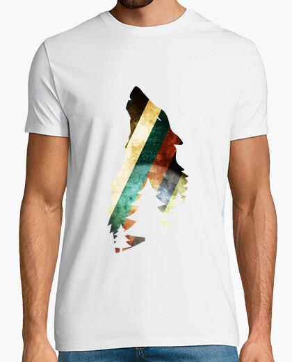 Camiseta lobo salvaje
