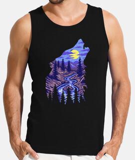 lobo silueta naturaleza regalo de luna