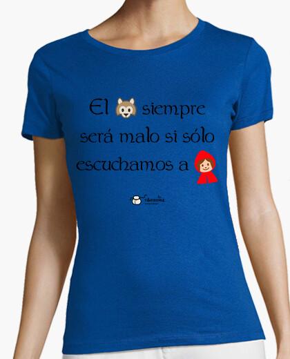 Camiseta Lobo y Caperucita (fondos claros)
