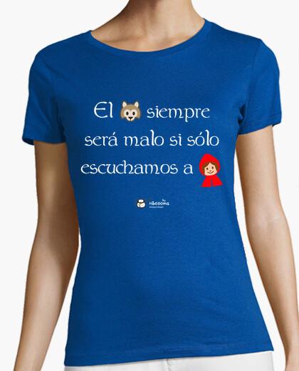Camiseta Lobo y Caperucita (fondos oscuros)