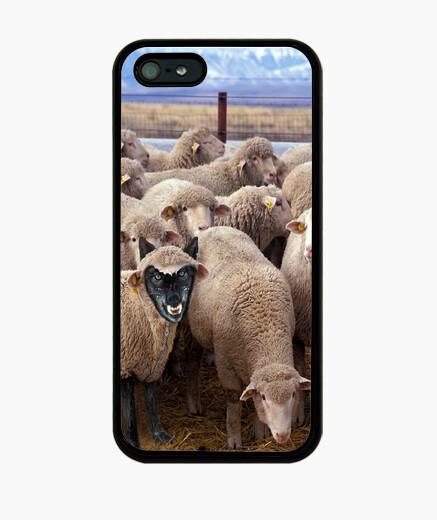 Funda iPhone Lobos con piel de cordero