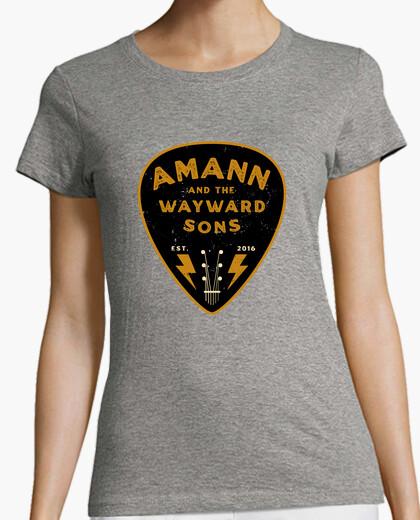 Camiseta Logo AMANN pua negro y dorado...