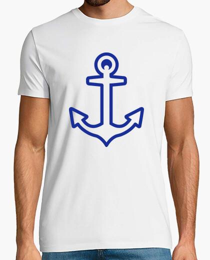 Camiseta logo ancla azul