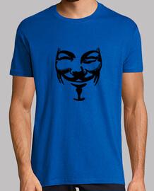 Logo Anonimous. Camiseta azul chico.