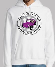Logo buggy rosa letras negras