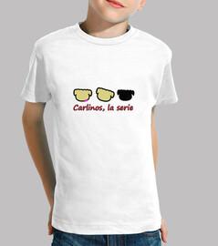 Logo Carlino. Niño, manga corta, blanco