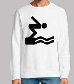 logo del icono de nadar