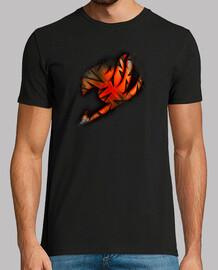 Logo Fairy Tail Naranja v2 para hombre
