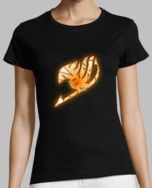 Logo Fairy Tail Naranja y Blanco para mujer