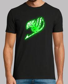 Logo Fairy Tail Verde y Blanco para hombre