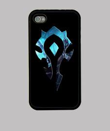Logo Horda Lich King Funda Móvil iPhone Warcraft