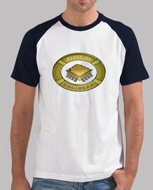Logo ingeniero de oro. Un escudo gold para los amantes de la electrónica.