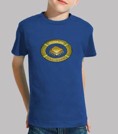 Logo ingeniero de oro. Un escudo gold para l@s amantes de la electrónica.