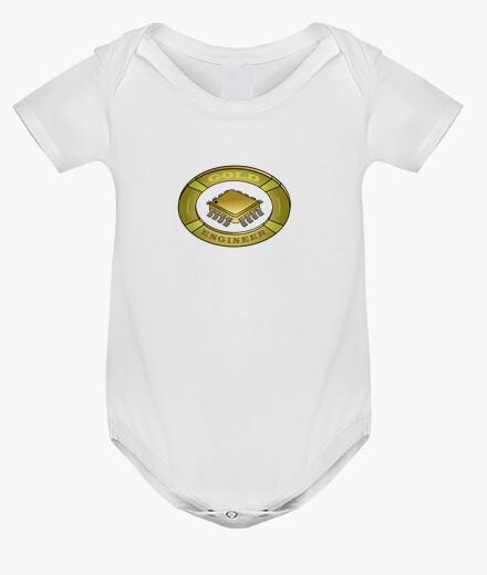 Ropa infantil Logo ingeniero de oro. Un escudo gold para l@s amantes de la electrónica.