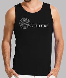 Logo Occulture Blanc Débardeur Homme