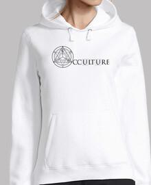 Logo Occulture Noir Sweat Femme