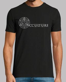 logo ocultura camisa de hombre blanco